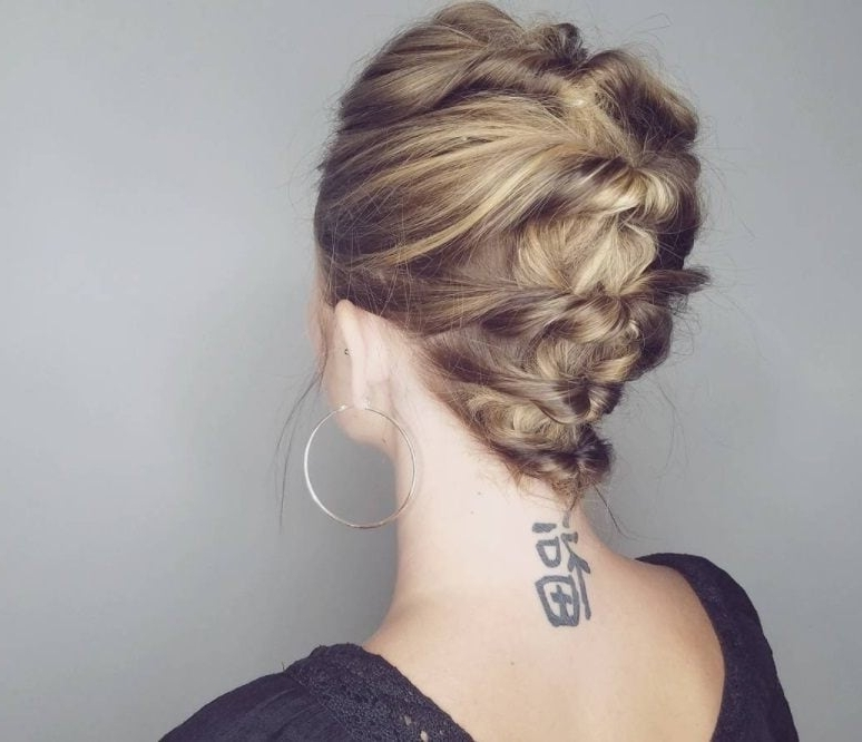 Updos For Short Hair: 15 Pretty Looks Short Haired Ladies Will Love With Most Recent Fancy Twisted Updo Hairstyles (View 13 of 15)