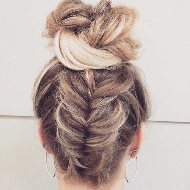 Upside Down Fishtail Braided Bun | Everyday + Professional With Most Recently Upside Down Fishtail Braid Hairstyles (View 2 of 15)