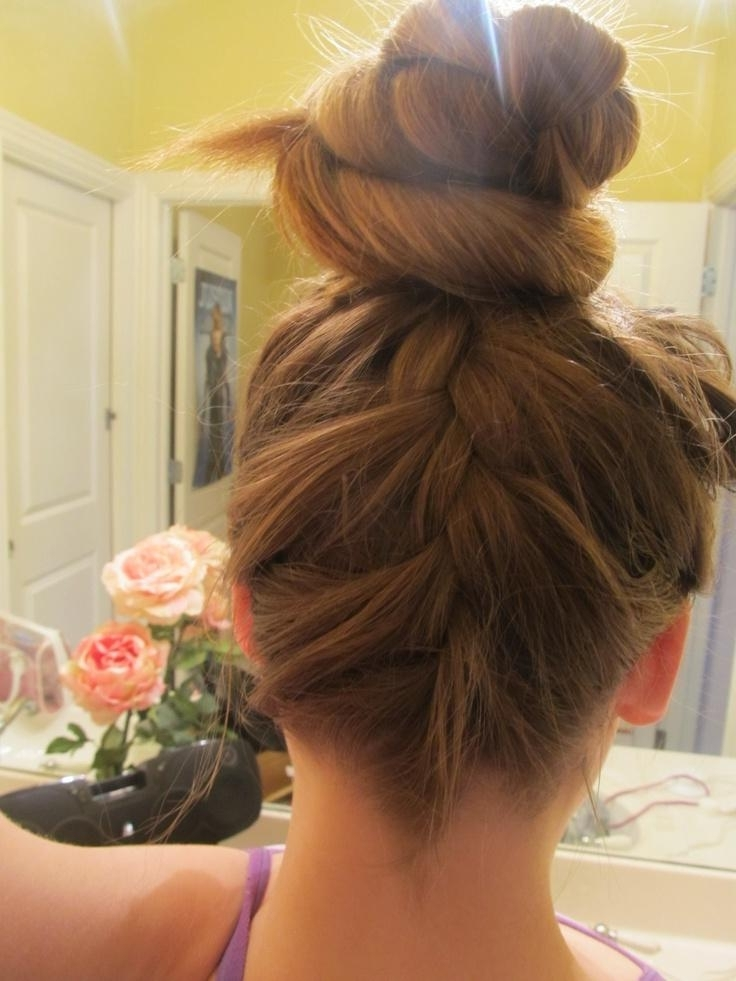 Upside Down French Braid Bun   Hairstyles How To Pertaining To Most Current Upside Down French Braid Hairstyles (View 6 of 15)