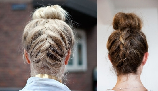 Upside Down French Braided Bun Hair Tutorial | Hair Extensions Blog In Most Recently Upside Down Braids To Bun (View 9 of 15)