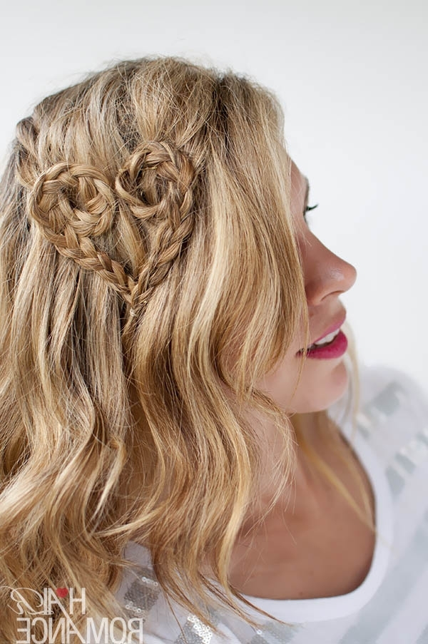 Valentine's Day Hairstyle Tutorial – Heart Braid Hairstyle – Hair Regarding Most Up To Date Heart Braided Hairstyles (View 4 of 15)