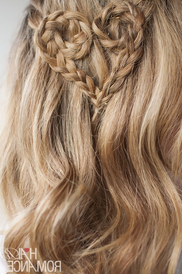Valentine's Day Hairstyle Tutorial – Heart Braid Hairstyle – Hair Within Most Up To Date Heart Braided Hairstyles (View 11 of 15)