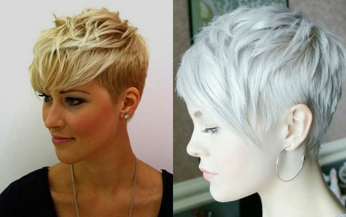 Vibrant Layered Pixie Haircuts 2017 Hairdrome | Haircuts Regarding Most Current Blonde Pixie Haircuts With Short Angled Layers (View 4 of 15)