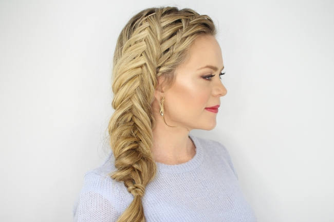 Waterfall And Inverted Fishtail Braid For Most Recently Upside Down Fishtail Braid Hairstyles (View 5 of 15)