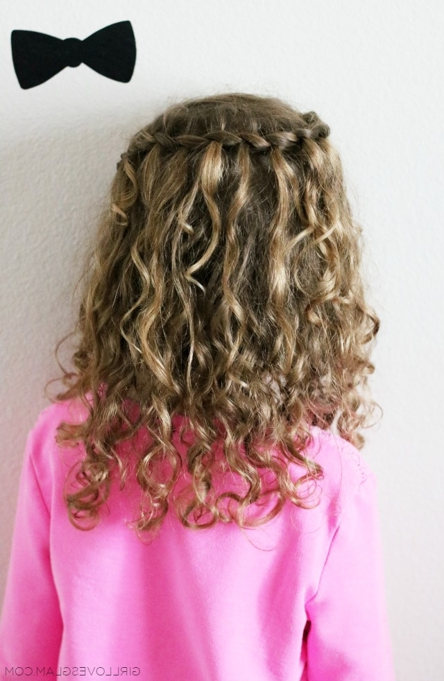 Waterfall Braid For Curly Hair – Girl Loves Glam Throughout Most Recent Braid And Curls Hairstyles (View 15 of 15)