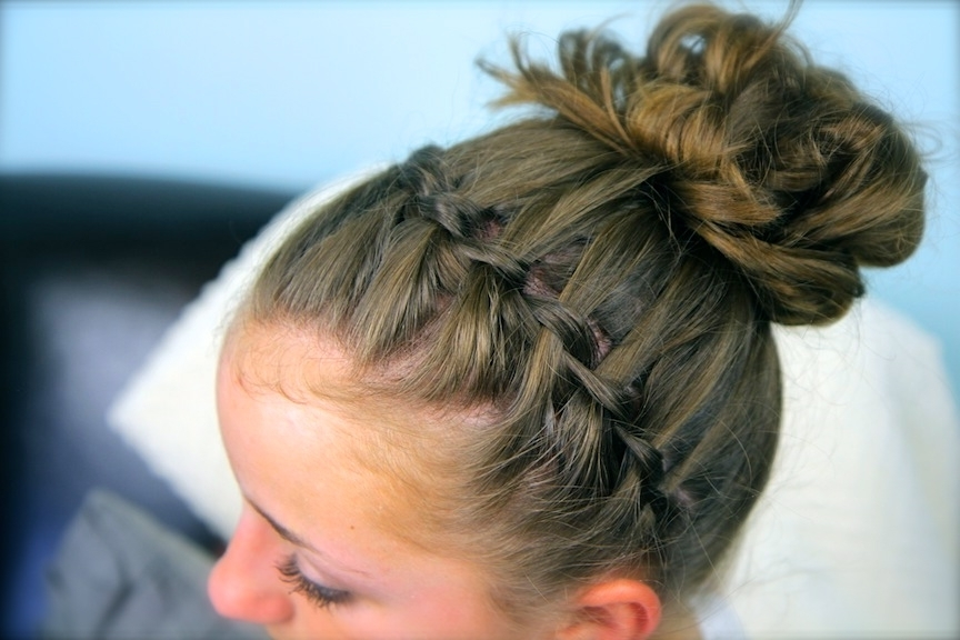 Waterfall Braid Headband Combo | Braided Hairstyles | Cute Girls With Regard To Most Recent Large High Bun With A Headband (View 9 of 15)