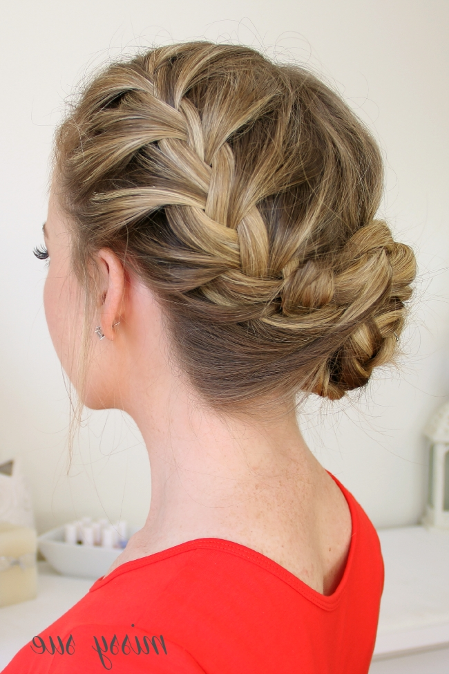 Waterfall, Dutch, French Braided Bun | Hair/makeup | Pinterest Pertaining To Most Recently French Braids Into Braided Buns (View 7 of 15)