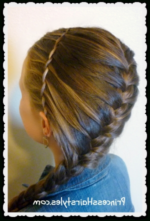 Waterfall Twist Braid Headband And French Braid Hairstyle In Most Up To Date Diagonal French Braid Hairstyles (View 7 of 15)