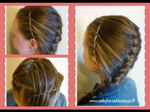 Waterfall Twist Headband & French Braid Hairstyle, Hair4Myprincess With Regard To Best And Newest Diagonal French Braid Hairstyles (View 4 of 15)