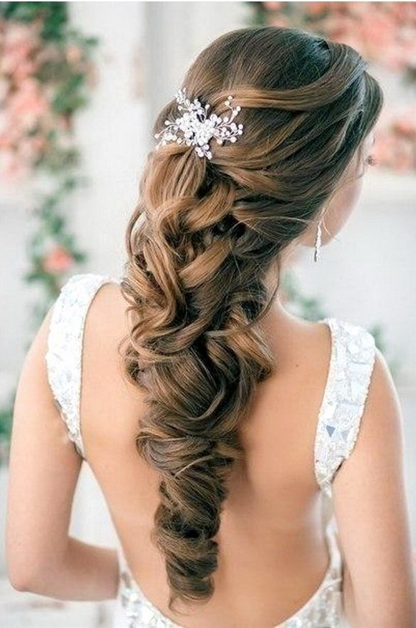 Wedding Hairstyles | Tulle & Chantilly Wedding Blog Intended For Latest Half Updo Braids Hairstyles With Accessory (View 14 of 15)