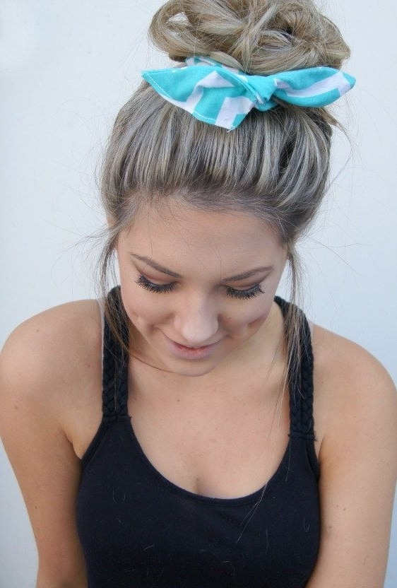 Featured Photo of Side Top Knot Ponytail With Copper Wire Wraps
