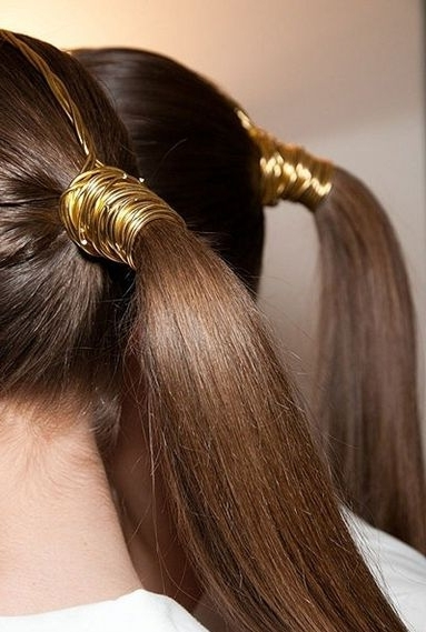 Wire #ponytail Wrap | Hair & Makeup Inspiration | Pinterest | Style In 2018 Side Top Knot Ponytail With Copper Wire Wraps (View 13 of 15)