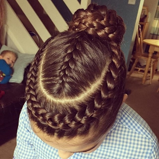 With All That Braiding, I'm Not Sure I Could Ever Do This On My Own Throughout Most Popular Braided Gymnastics Hairstyles (View 7 of 15)
