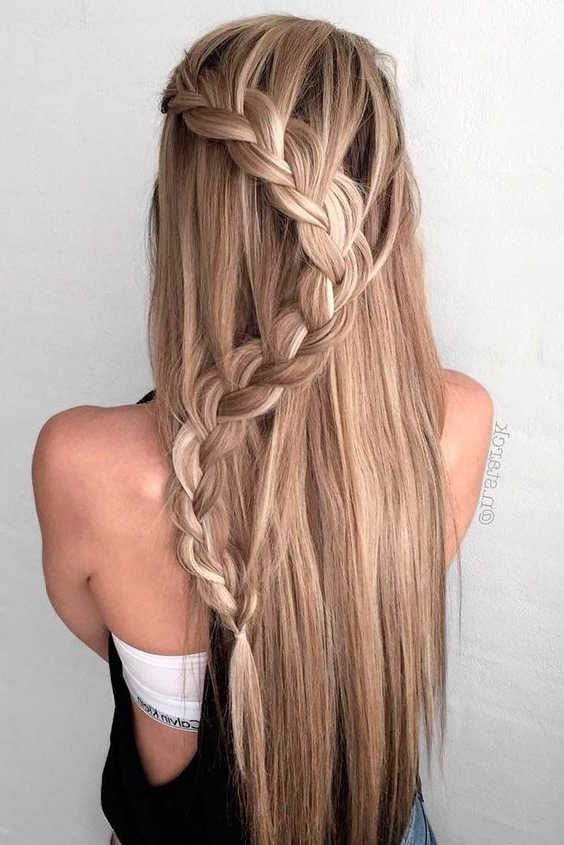 Women Hairstyles Shaved   Prom Hairstyles Straight   Pinterest Inside 2018 Braided Hairstyles For Homecoming (View 6 of 15)