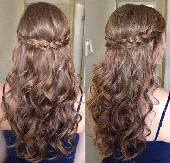 Women Hairstyles Short Blondes   Prom Hairstyles Straight Inside Recent Braid And Curls Hairstyles (View 12 of 15)