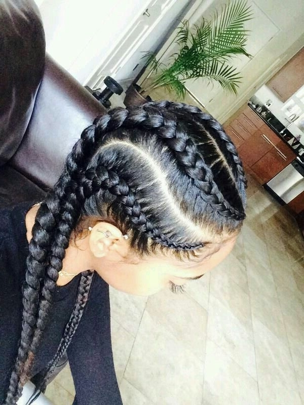 Would You Want To Spend This Much Time On These Chunky & Beautiful Pertaining To Recent Chunky Cornrows Hairstyles (View 8 of 15)