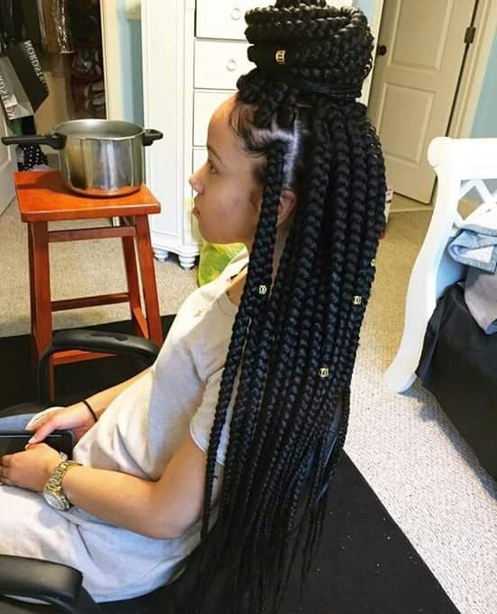Would You Want To Spend This Much Time On These Chunky & Beautiful Throughout Most Popular Super Long Dark Braids With Cuffs (View 15 of 15)