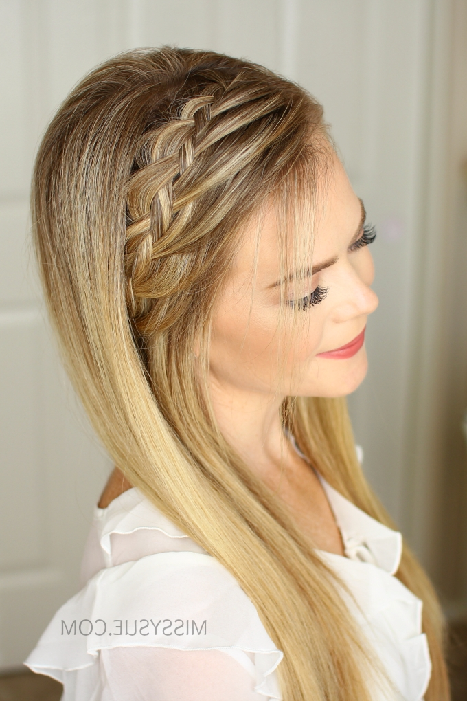 Woven Headband Braid | Missy Sue Pertaining To Current Headband Braided Hairstyles (View 14 of 15)
