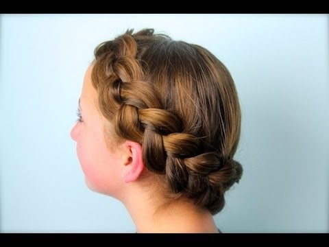 Wrap Around Dutch Pancake Braid | Cute Girls Hairstyles – Youtube For Most Current Double French Braid Crown Hairstyles (View 10 of 15)
