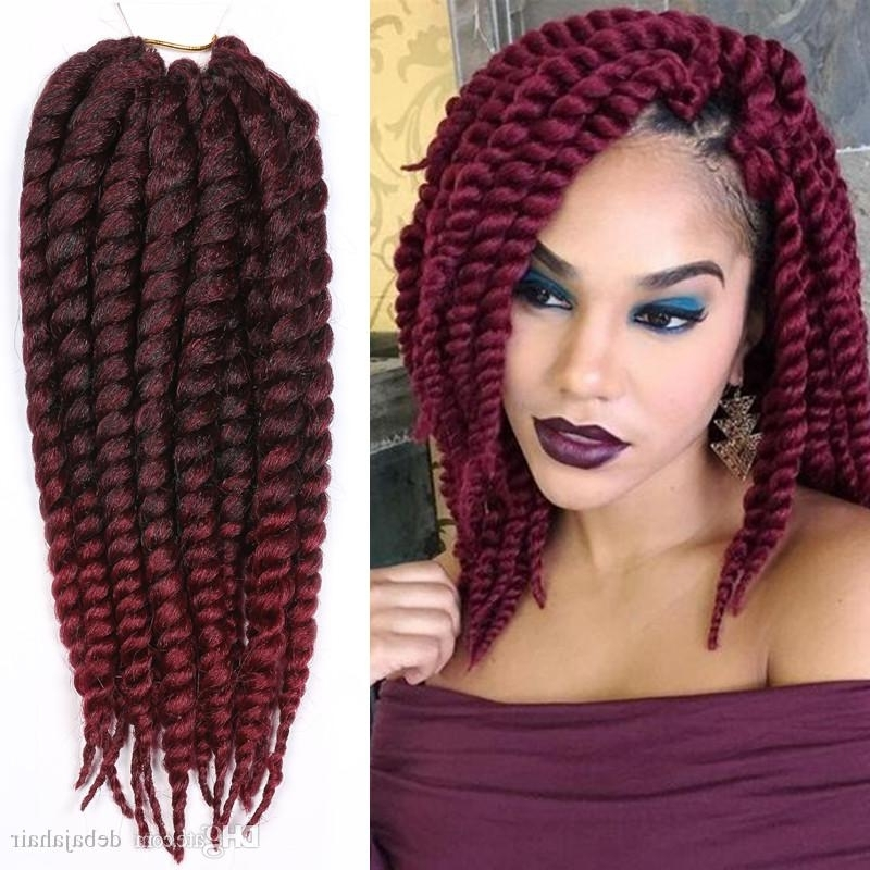 Xpression Ombre Synthetic Braiding Hair Extensions Burgundy Faux With Most Popular Braided Hairstyles With Fake Hair (View 2 of 15)
