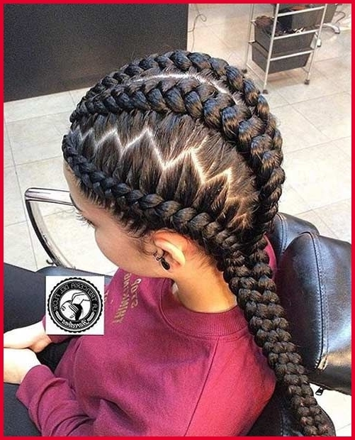 Zig Zag Braids Hairstyle 128421 31 Best Ghana Braids Hairstyles For Most Recently Zig Zag Cornrows Hairstyles (View 4 of 15)