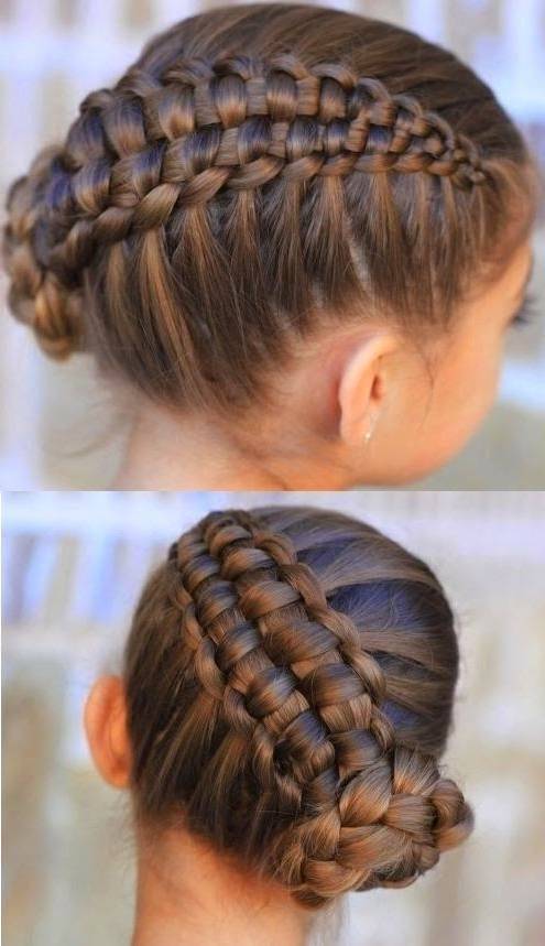 Zipper Braid Updo! Images And Video Tutorials! | Hair | Pinterest With Latest Zipper Braids With Small Bun (View 2 of 15)