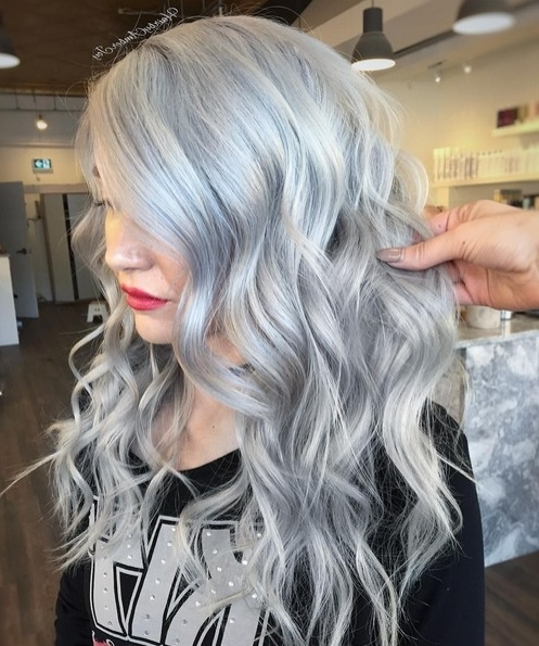 10 Adorable Ash Blonde Hairstyles To Try – Love This Hair Pertaining To Glamorous Silver Blonde Waves Hairstyles (View 18 of 25)