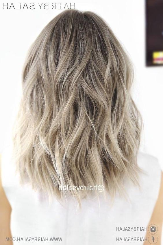 10 Balayage Hairstyles For Shoulder Length Hair: Medium Haircut 2018 Regarding Dark Blonde Into White Hairstyles (View 24 of 25)