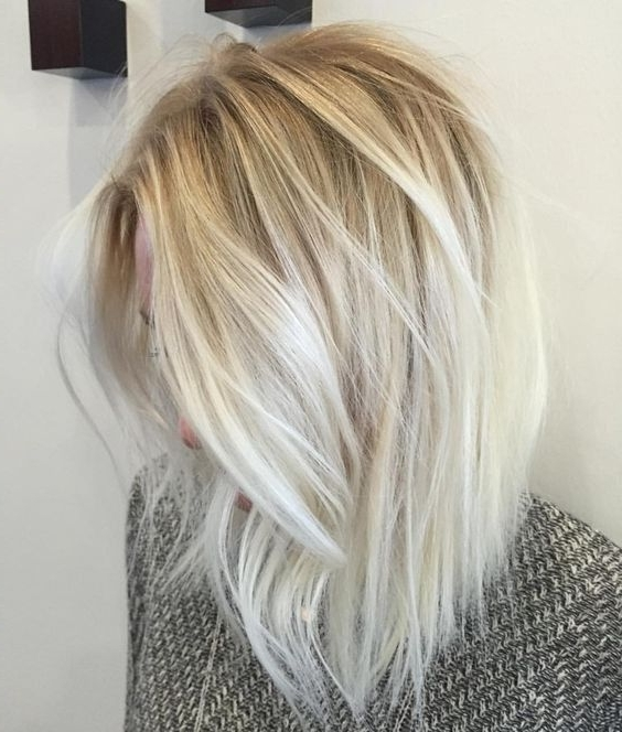 10 Balayage Hairstyles For Shoulder Length Hair: Medium Haircut 2018 Within Bright Long Bob Blonde Hairstyles (View 2 of 25)