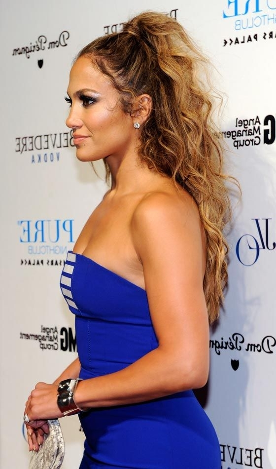 10 Beautiful Updos For Long Curly Hair   Hair Styles   Pinterest With Regard To Easy High Pony Hairstyles For Curly Hair (View 5 of 25)