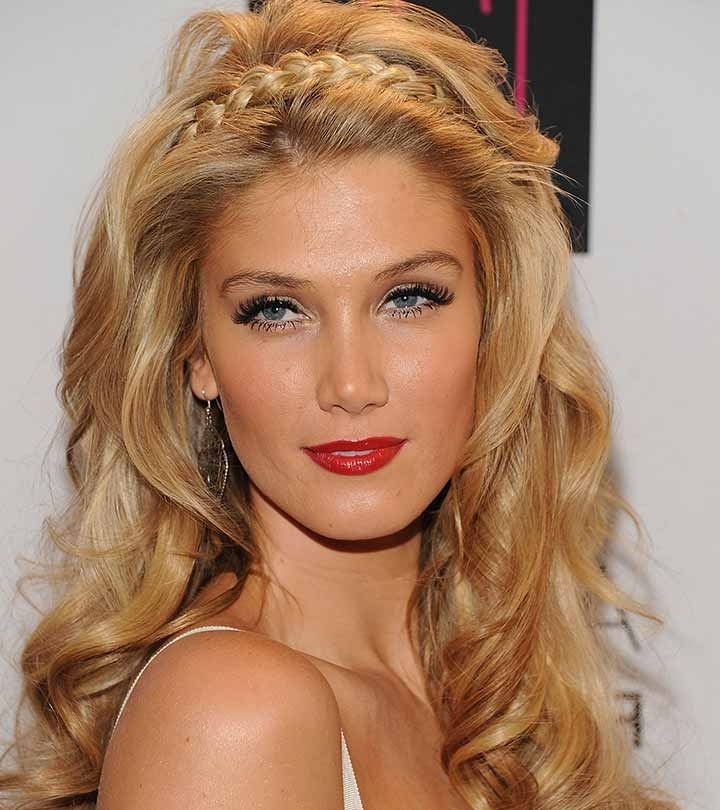 10 Beautiful Updos For Long Curly Hair Pertaining To Half Updo Blonde Hairstyles With Bouffant For Thick Hair (View 11 of 25)