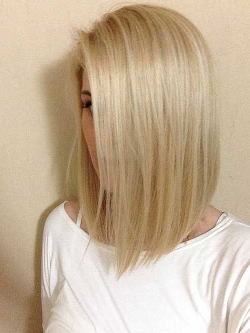 10 Bob Hairstyles For Fine Hair | Medium Length Hair | Pinterest Throughout Sleek White Blonde Lob Hairstyles (View 9 of 25)