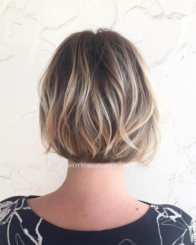10 Bombshell Blonde Highlights On Brown Hair – Best Hairstyle Models Inside Cream Colored Bob Blonde Hairstyles (View 14 of 25)