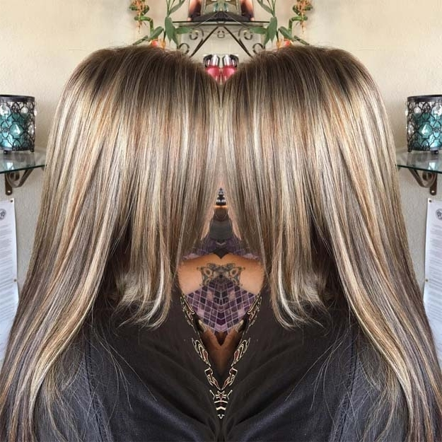 10 Bombshell Blonde Highlights On Brown Hair | Makeup Tutorials Throughout Blonde Hairstyles With Platinum Babylights (View 13 of 25)