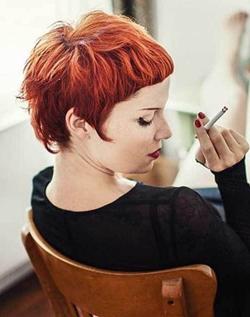 10 Chic And Showy Red Pixie Hairstyles | Gorgeous Hair | Pinterest For Current Ravishing Red Pixie Hairstyles (View 10 of 25)