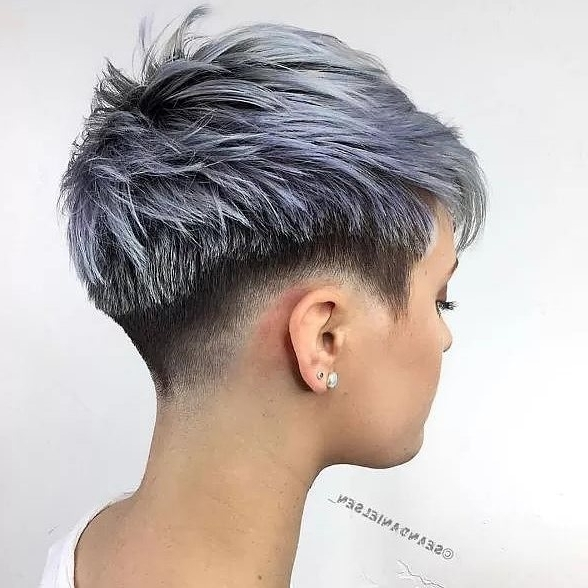 10 Choppy Haircuts For Short Hair In Crazy Colors – Women Hairstyle 2018 Throughout Newest Choppy Gray Pixie Hairstyles (View 21 of 25)