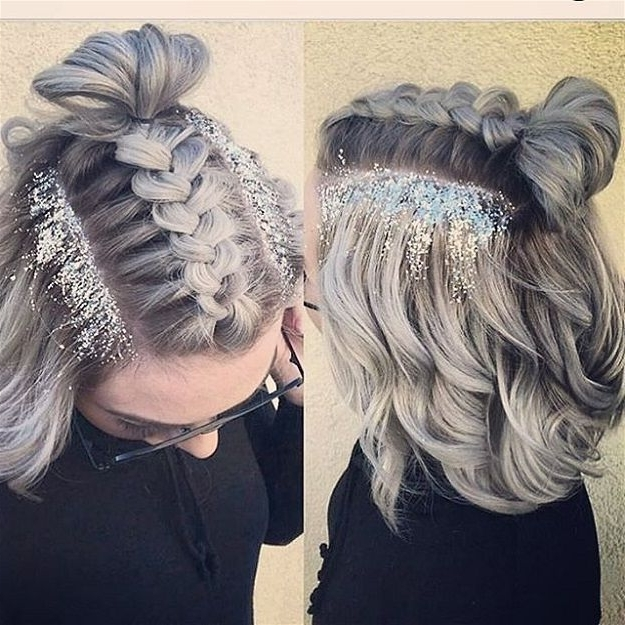 10 Creative Ways To Be Sparkingly Beautiful With Glitter Makeup With Regard To Glitter Ponytail Hairstyles For Concerts And Parties (View 2 of 25)