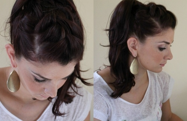 10 Creative Ways To Wear A Ponytail – Ma Nouvelle Mode Within Three Braids To One Ponytail Hairstyles (View 20 of 25)