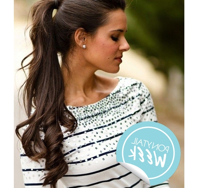 10 Curly Hair Ponytails To Change Up Your Look | Stylecaster With High Curled Do Ponytail Hairstyles For Dark Hair (View 18 of 25)