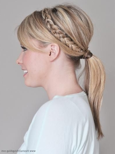 10 Cute Hairstyles For Short Hair Regarding Pony Hairstyles With Wrap Around Braid For Short Hair (View 10 of 25)
