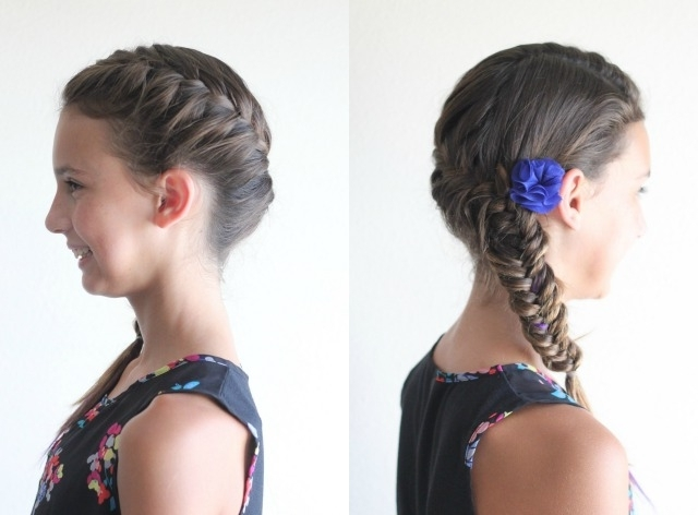 10 Cute Little Girl Hairstyles – Ma Nouvelle Mode With Regard To Rockstar Fishtail Hairstyles (View 18 of 25)