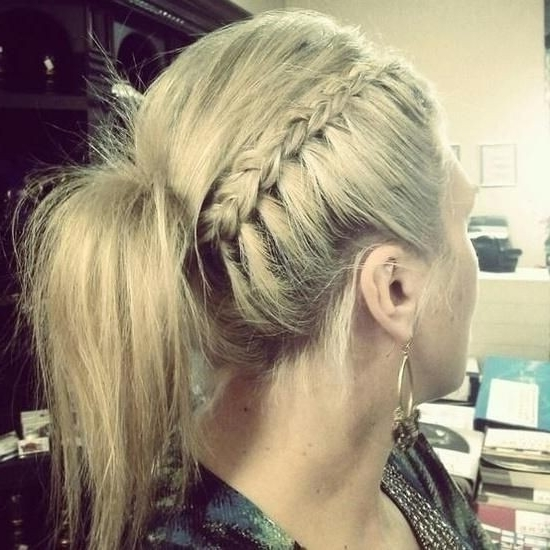 10 Cute Ponytail Ideas: Summer And Fall Hairstyles For Long Hair Inside Side Braided Sleek Pony Hairstyles (View 15 of 25)