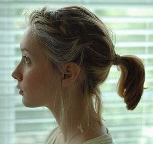 10 Cute Ponytails For Short Hair | Haircuts | Pinterest | Short With Classy Flower Studded Pony Hairstyles (View 1 of 25)