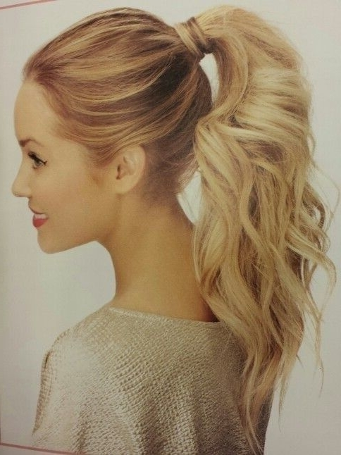 10 Easy Ponytail Hairstyles: Long Hair Style Ideas 2018   Cute Hair With Voluminous Pony Hairstyles For Wavy Hair (View 6 of 25)