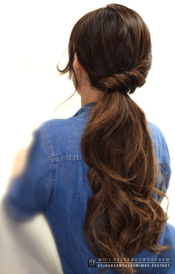 10 Easy Ponytail Hairstyles: Long Hair Style Ideas 2018 Within Low Hanging Ponytail Hairstyles (View 9 of 25)