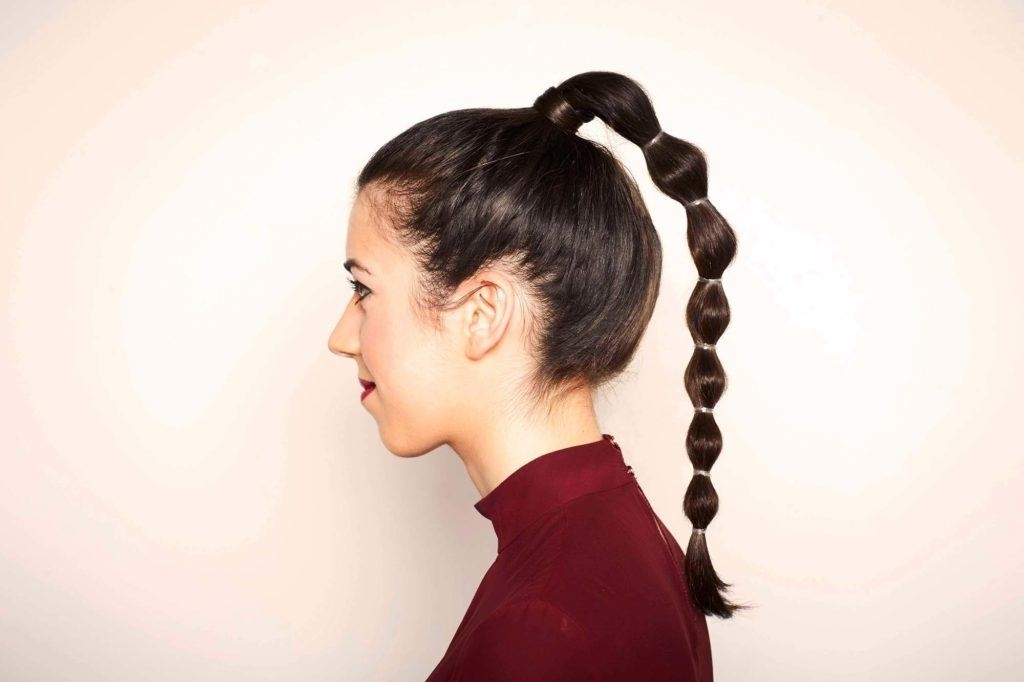 10 Easy Ways To Amp Up Your Ponytail Hairstyle Inside High Bubble Ponytail Hairstyles (View 1 of 25)