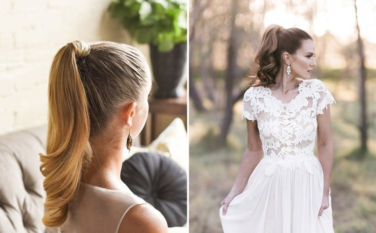 10 Fun And Fabulous Bridal Ponytails To Consider – Mrs2Be Pertaining To Fabulous Bridal Pony Hairstyles (View 7 of 25)