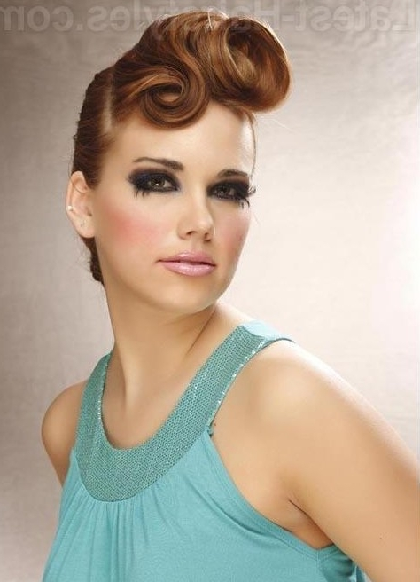 10 Glamorous Hairstyles With Vintage Glamour – Pretty Designs Intended For Glamorous Pony Hairstyles (View 2 of 25)