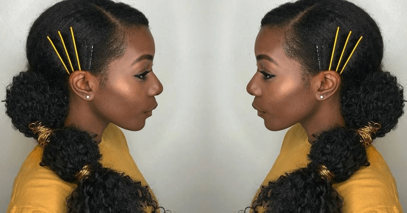 10+ Gorgeous Natural Hair Ponytail Styles To Try! – The Blessed Queens For Pony Hairstyles For Natural Hair (View 3 of 25)
