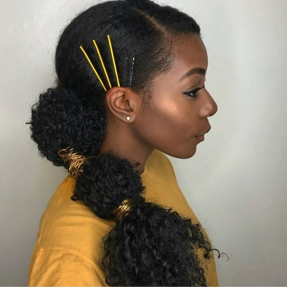 10+ Gorgeous Natural Hair Ponytail Styles To Try! – The Blessed Queens In Pony Hairstyles For Natural Hair (View 4 of 25)